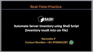 Complete Shell Scripting Tutorials | Automate Server Inventory using Shell Script