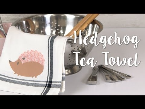How to Make Hedgehog Tea Towels! Cute 5-Minute DIY