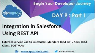 Integration in Salesforce using REST API   Standard REST API   APEX REST API   POSTMAN   DAY 9: P1