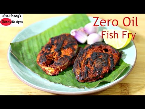 Fish Fry Without Oil – How To Fry Fish Without Oil – Zero Oil High Protein Tasty Indian Fish Roast