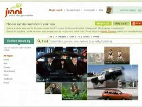 Jinni Recommendation Service Like Pandora For Movies