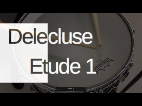 Etude 1, Jacques Delecluse performed by University of Wyoming percussion instructor Ed Breazeale.
