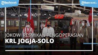 Jokowi Resmikan Pengoperasian KRL Jogja-Solo, Klaim KRL Lebih Cepat dan Lebih Ramah Lingkungan