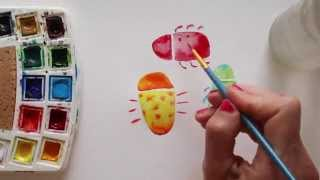 Draw Tip Tuesday: Watercolour Bugs