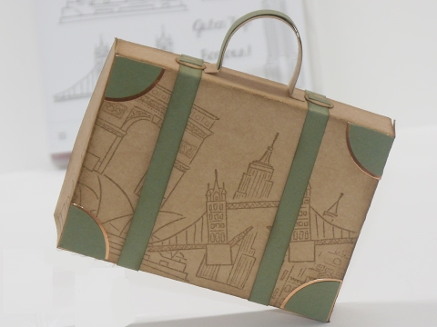 Geldgeschenke - Anleitung ein Koffer als Verpackung