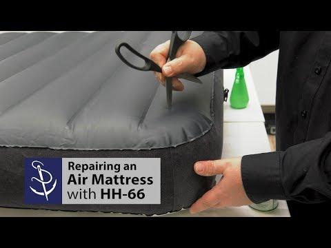 Repairing an Air Mattress with HH-66 Vinyl Cement