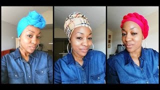 How to tie a Head Wrap - 5 Ways