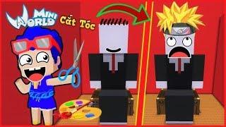 Mini World: Phong Cận nghỉ youtube để làm thợ cắt tóc cho SlenderMan trong mini world   Phong Cận Tv