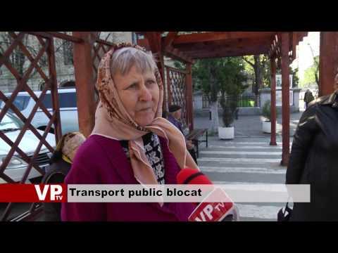 Transport public blocat