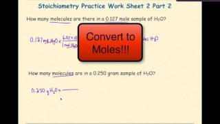 AP Chemistry Stoichiometry Worksheet 2 Set 2