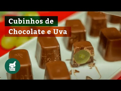 Cubinhos de Chocolate e Uva