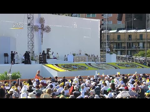 Messe à Gênes - Visite pastorale du Pape François