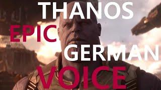Thanos Epic German Voice By Klaus-Dieter Klebsch Synchronsprecher
