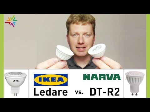 "Vergleich ""IKEA Ledare GU5.3"" versus ""NARVA DT-R2 smart GU5.3"" [watt24-Video Nr. 60]"