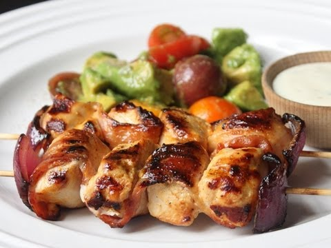 Bacon Ranch Chicken Skewers – Grilled Bacon Chicken Skewers