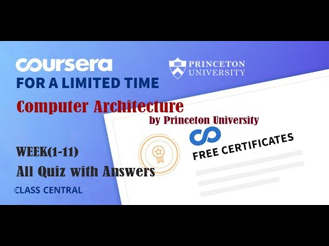Computer Architecture, week (1-11) All Quiz with Answers - YouTube