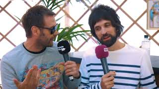 Kasabian backstage at Isle Of Wight Festival 2018