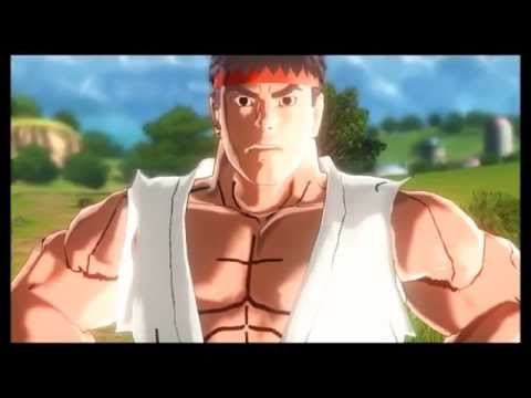 Dragon Ball Xenoverse (PC): Ryu Vs. Ken (Training) Gameplay [MOD]