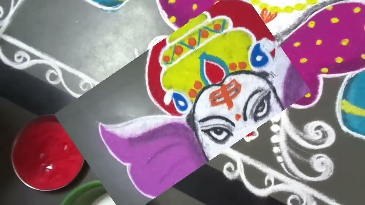 ganesh chathurthi special rangoli design by latest rangoli