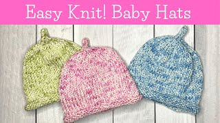 HOW TO KNIT an EASY BABY HAT on Double Pointed Needles