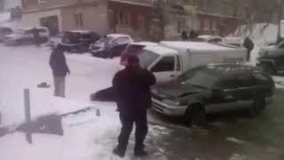 Гололёд, первый снег, любители летней резины 10