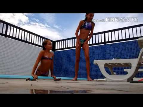 Desafio da piscina com Isa Lopes 💰🌊