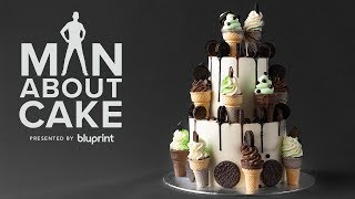 DIY Ice Cream Cone Cake You Can Actually Make! | Man About Cake Mystery Box Challenge