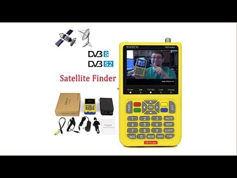 Freesat V8 Satellite Finder DVB S2 Receiver Digital Signal Meter Outdoor Signal Detector - Review