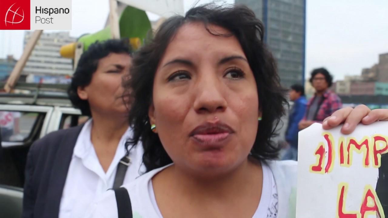 Manifestantes exigieron la derogatoria del TPP en Perú