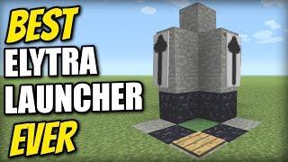 Minecraft   BEST ELYTRA LAUNCHER EVER [Sky Limit=0 Seconds] Tutorial