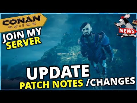 CONAN EXILES PS4/XBOX/PC UPDATE NEW DUNGEONS - TAMES - LOOT - PATCH NOTES