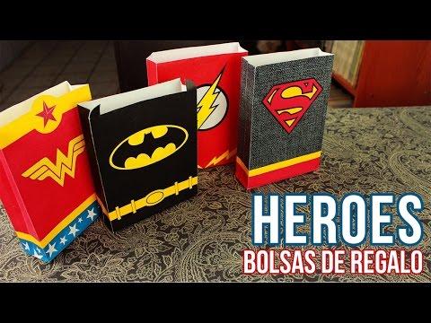 Bolsas de Regalo HEROES DC COMICS | DIY | SamuelKun | Tuto Express