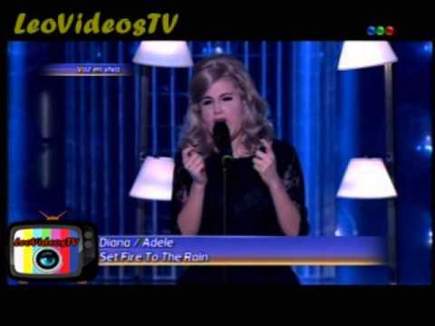 Diana Amarilla es Adele en Tu Cara Me suena 3 #GH2015 #GranHermano