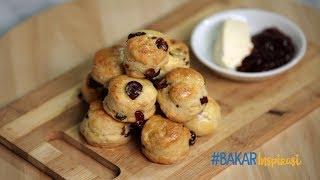 #BakarInspirasi - Cranberry Scones / Scone Kranberi