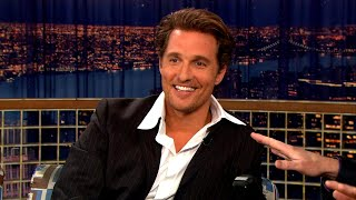 "Matthew McConaughey Has A Nephew Named Miller Lyte McConaughey - ""Late Night With Conan O'Brien"""
