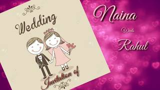 Wedding Invitation Card In Indian Style: 2018