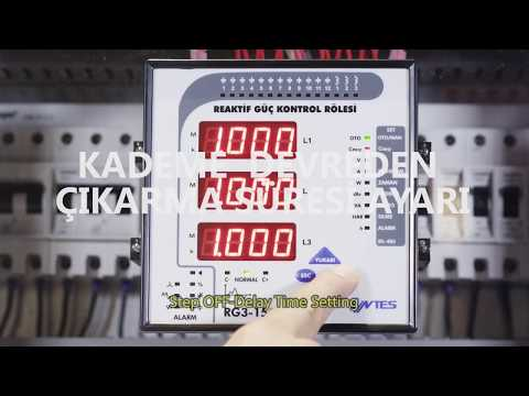 RG3-15 CLS Power Factor Controller Step Off delay Time Setting