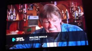 Bull runs through in pub in county Cavan, Ireland