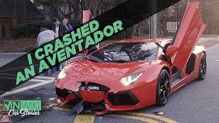 I crashed an Aventador