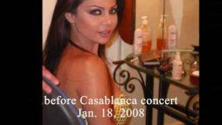 Haifa Wehbe at concerts in 2007-08 Andi Baghbaghan انا عندي بغبغان