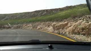 preview picture of video 'Road 98 from Mevo Hama to Hamat Gader junction'