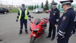 Беспредел Дебилы ДПС и мотоцикл.  Смотреть видео.