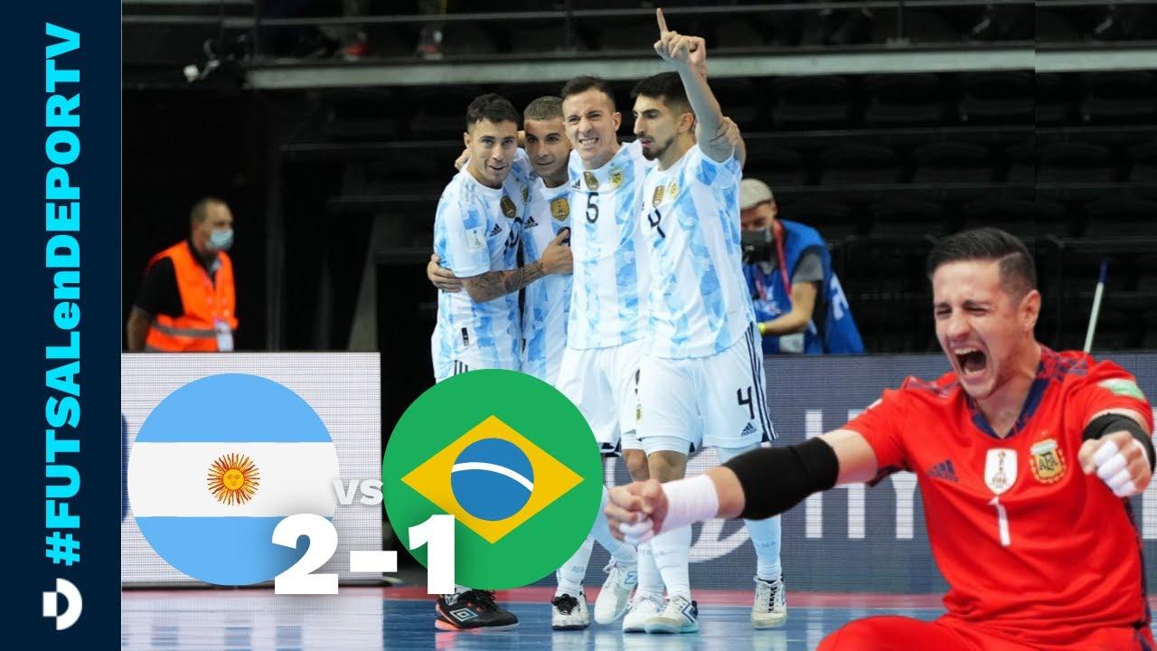 VÍDEO - LA SELECCIÓN ARGENTINA DE FUTSAL LE GANÓ A BRASIL Y SE METIÓ EN LA FINAL DEL MUNDIAL.