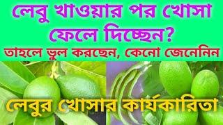 লেবুর খোসার আজানা গুনাগুন(Lemon cucumbers are unknown)
