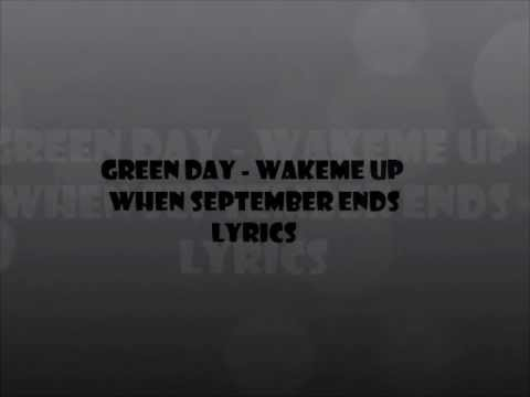 Green Day - Wake Me Up When September Ends Lyrics Mp3