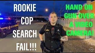 ROOKIE COP TRIES TO SEARCH ME FAIL!! PUTS HAND ON GUN! I SHUT EM DOWN!!