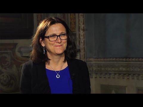 H Eπίτροπος Εμπορίου Σεσίλια Μάλμστρομ στο Global Conversation