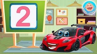 Вихрь Гоночный Автомобильчик учит цифры — Цифра 2
