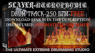 Thrash Metal Drum Track 250 bpm-Slayer Necrophobic-Stigmatized Drummer