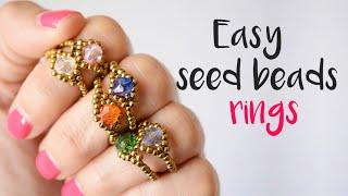 DIY How To Make Easy Seed Bead Rings